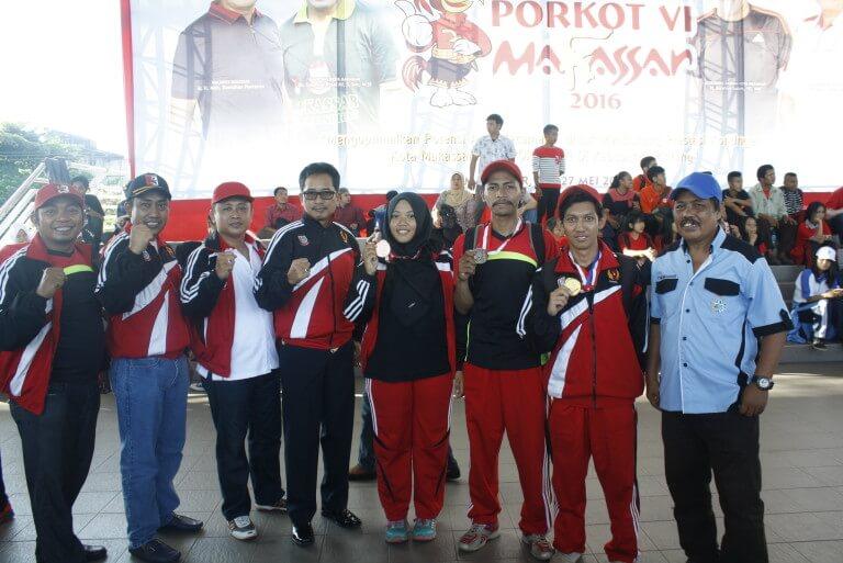 Atlet Perbakin Unhas Dominasi Juara di Cabang Olahraga Menembak Porkot VI Makassar